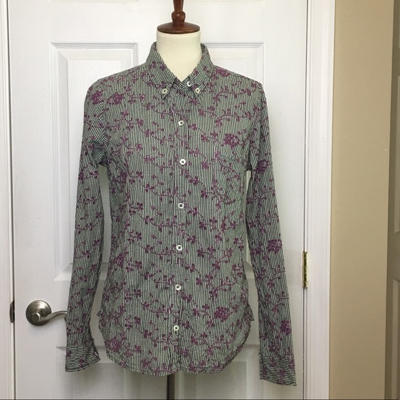 d14c8b5f Anthropologie Tops - Anthropologie Odille Gingham Eyelet Embroidery Top